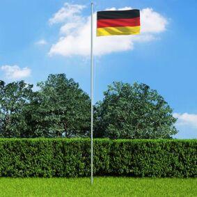 vidaXL Tysk flagg 90x150 cm