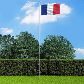 vidaXL Fransk flagg 90x150 cm