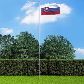 vidaXL Slovakisk flagg 90x150 cm