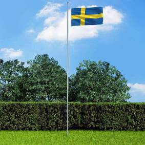 vidaXL Svensk flagg 90x150 cm