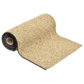 vidaXL Steinfolie naturlig sand 1000x40 cm