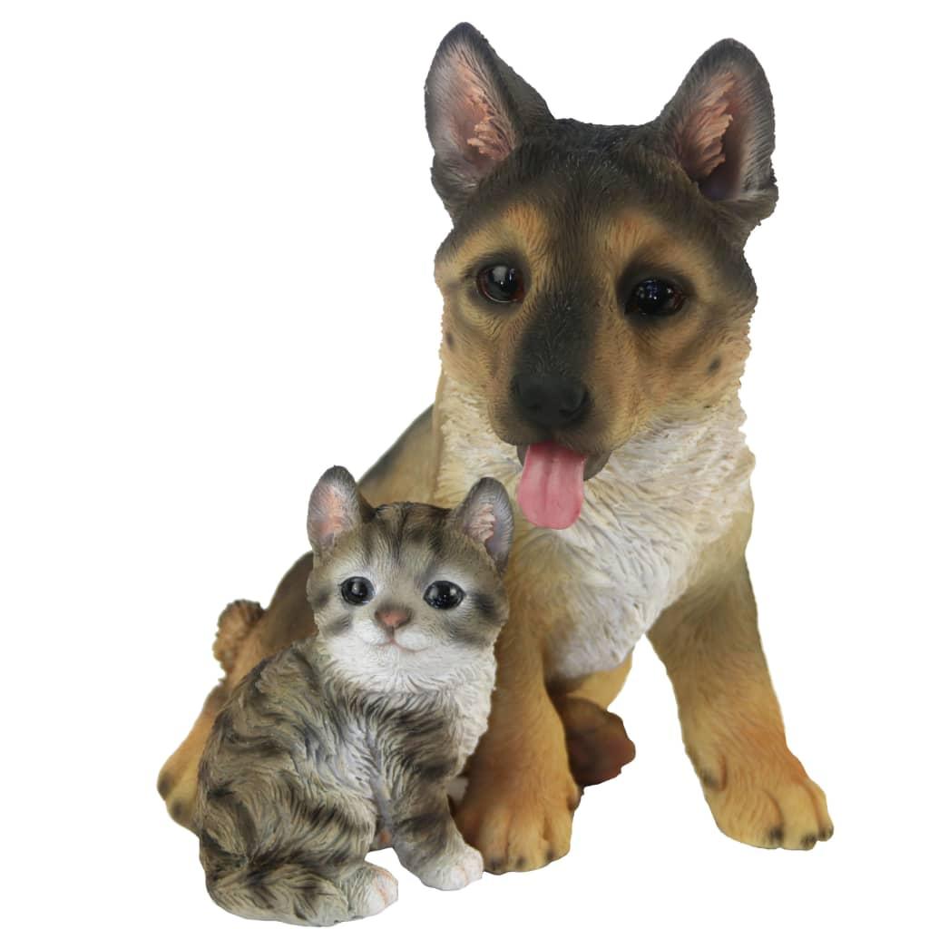 Esschert Design Hund og katt sittende 15,4x15,4x18,5cm