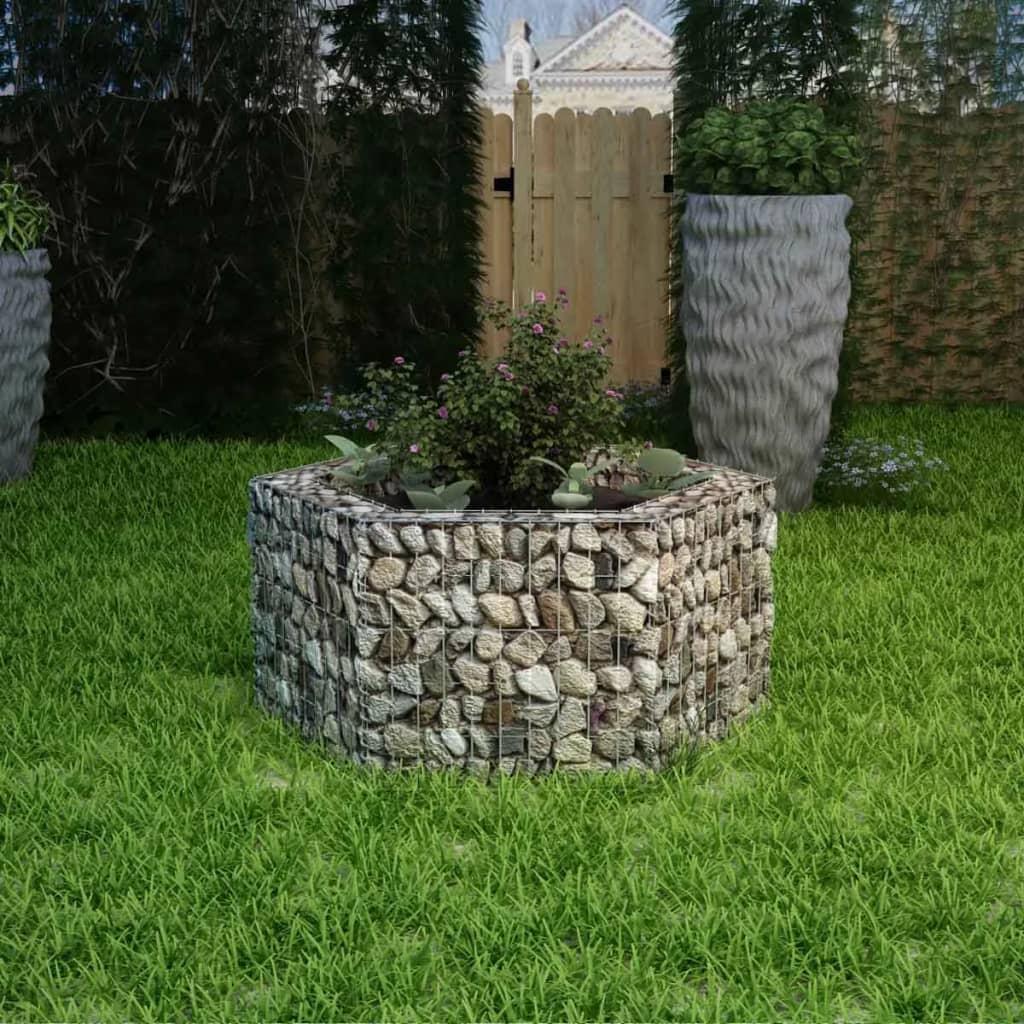 vidaXL Gabion plantekasse sekskantet 100x90x50 cm