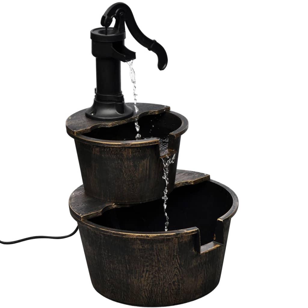 vidaXL Fontene med brønnpumpedesign