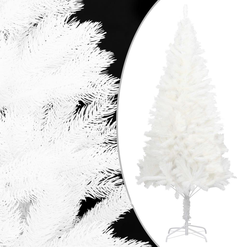 vidaXL Kunstig juletre livaktige nåler hvit 120 cm