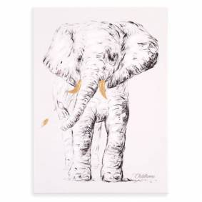 CHILDHOME Oljemaleri 30x40 cm elefant