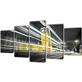 vidaXL Kanvas Flerdelt Veggdekorasjon London Big Ben 200 x 100 cm