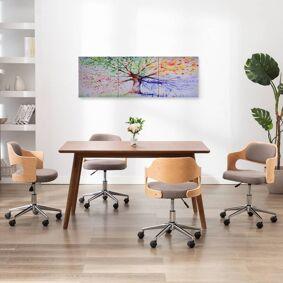 vidaXL Lerretsbilde tre regn flerfarget 120x40 cm