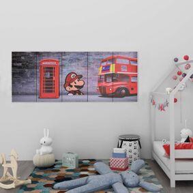 vidaXL Lerretsbilde London flerfarget 150x60 cm