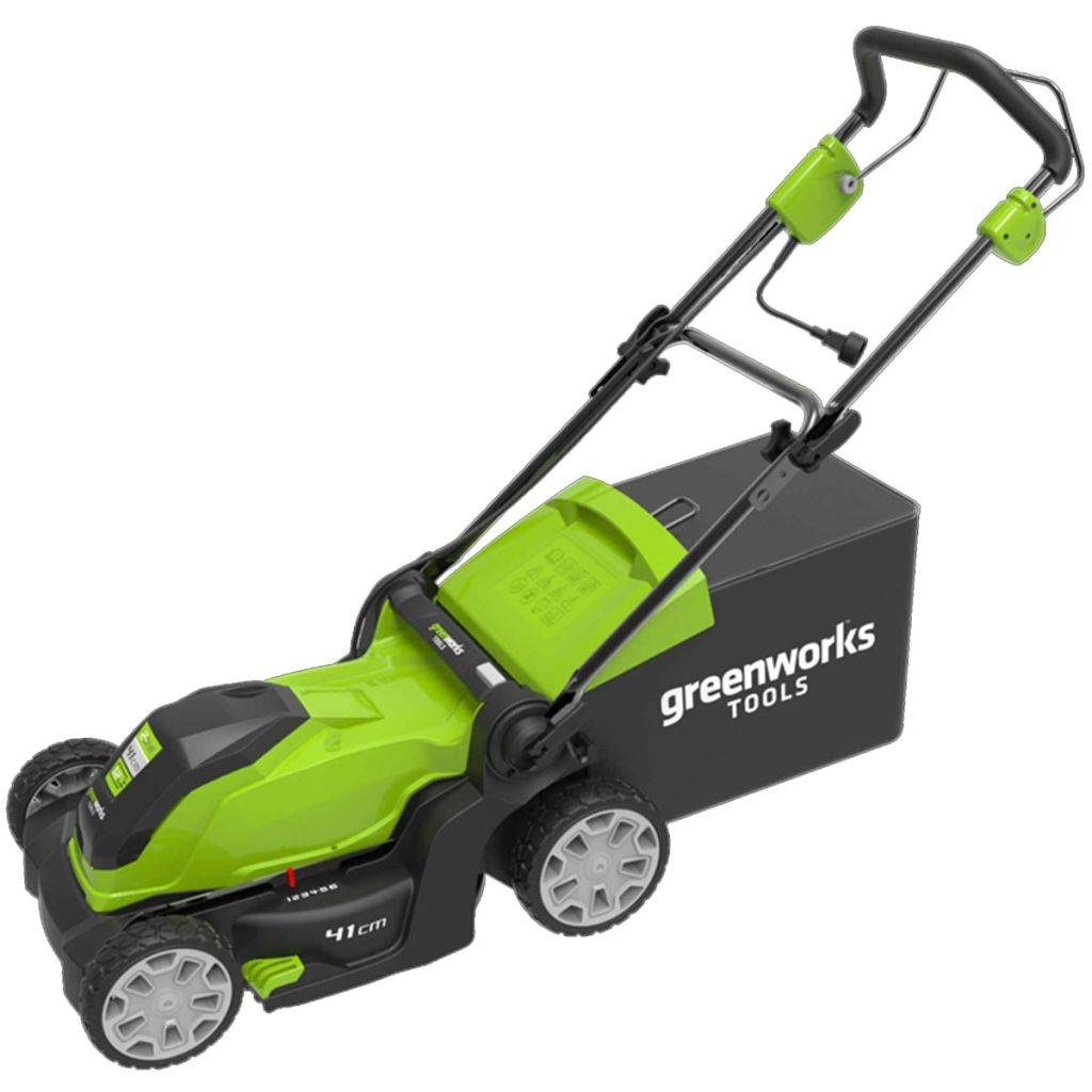 Greenworks Elektrisk gressklipper GLM1241 230 V 41 cm 2505207