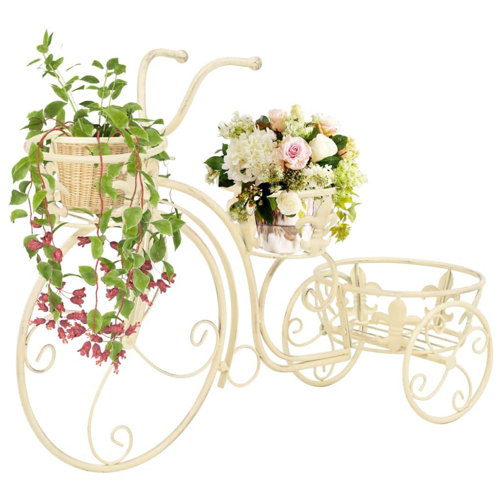 vidaXL Blomsterstativ sykkelform gammeldags stil metall