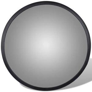 vidaXL Konveks trafikkspeil svart akryl 30 cm innendørs