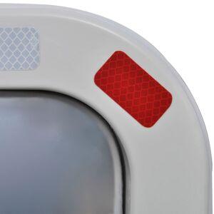 vidaXL Trafikkspeil firkantet 60 x 80 cm med reflekser