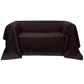 vidaXL Mikro-semsket sofa overtrekk brun 270 x 350 cm