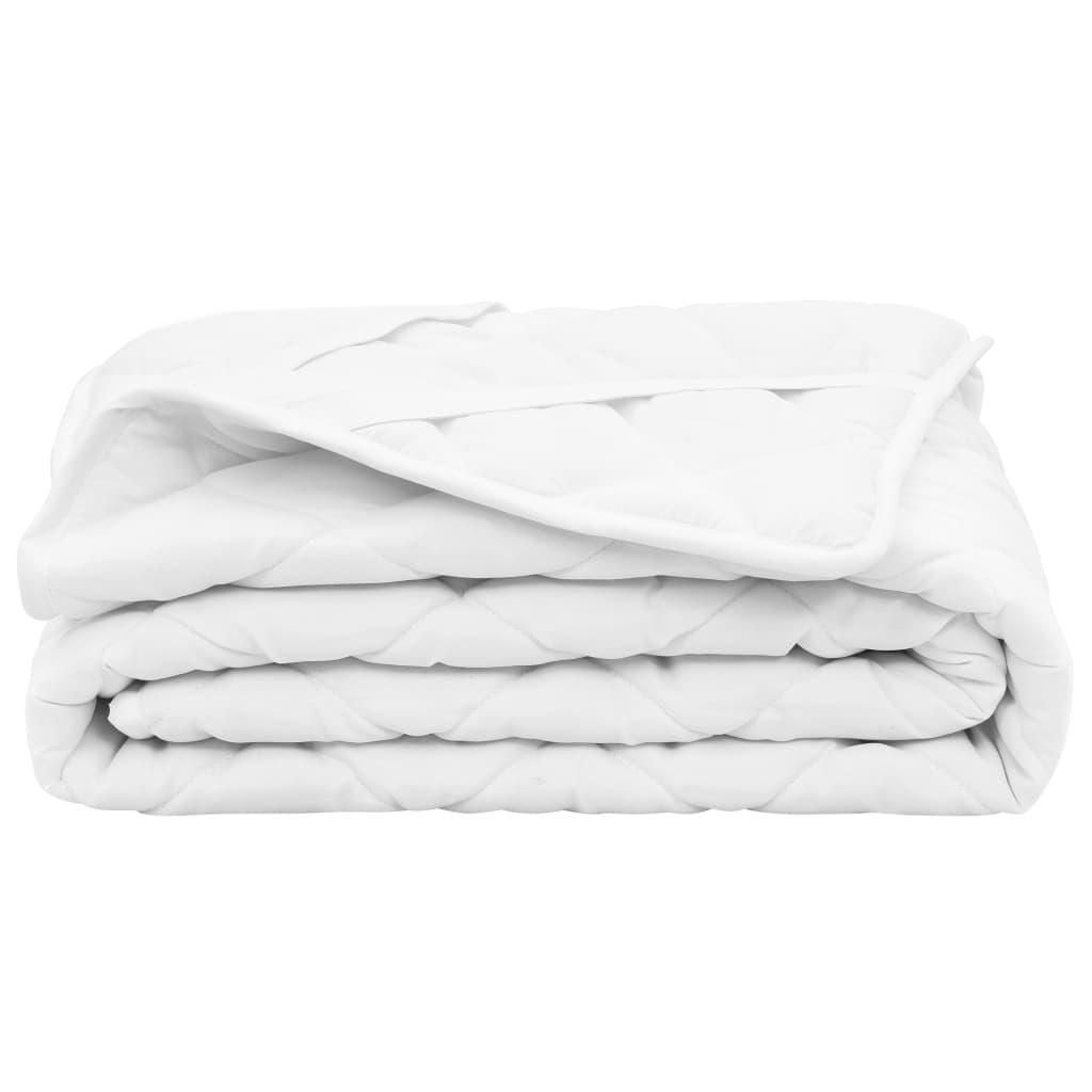 vidaXL Vattert madrassbeskytter hvit 70x140 cm lett