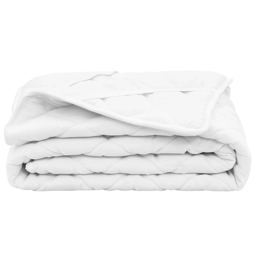 vidaXL Vattert madrassbeskytter hvit 90x200 cm lett