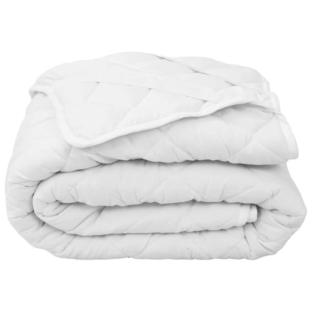 vidaXL Vattert madrassbeskytter hvit 160x200 cm lett