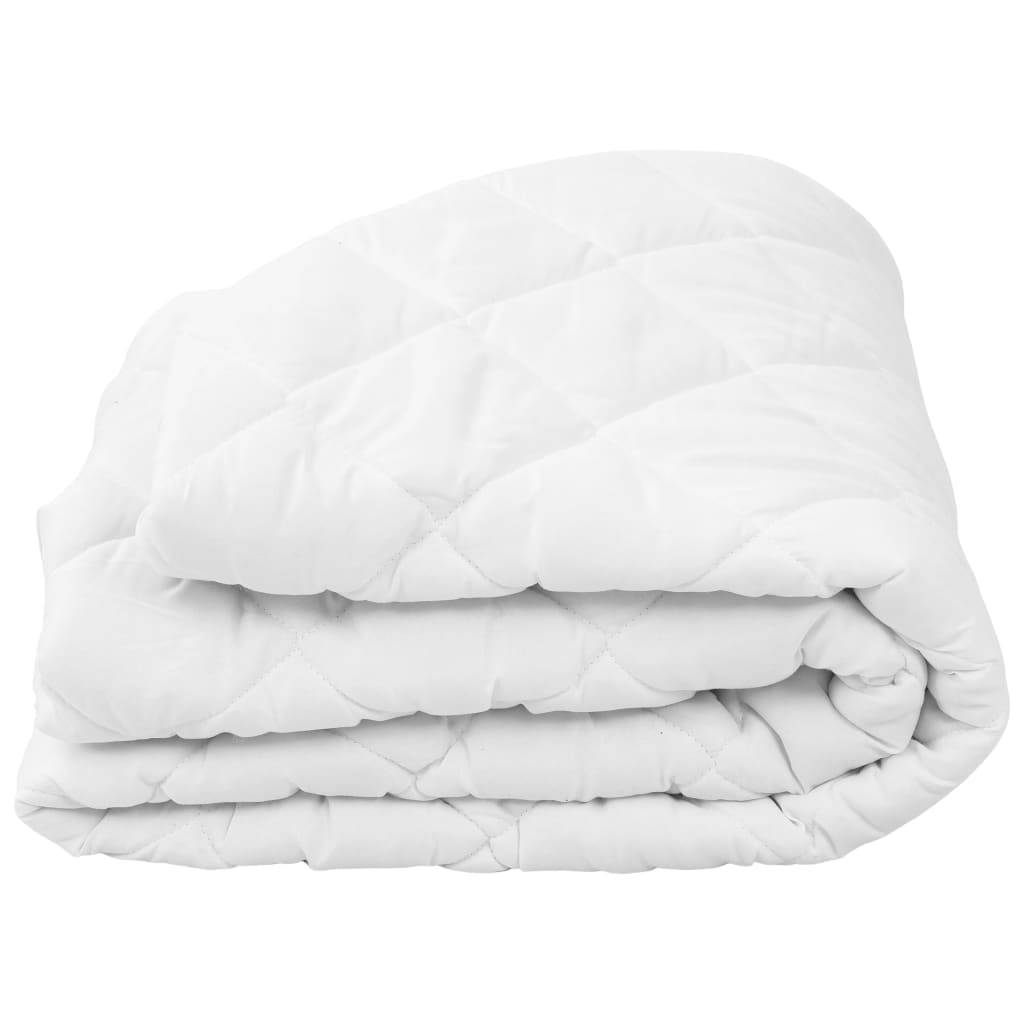 vidaXL Vattert madrassbeskytter hvit 70x140 cm tung