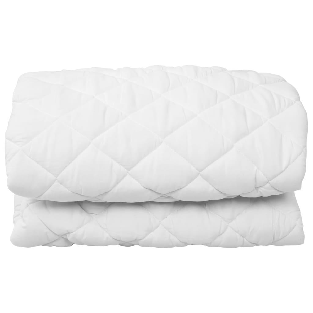 vidaXL Vattert madrassbeskytter hvit 180x200 cm lett