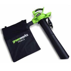 Greenworks Løvblåser/løvsuger uten 40 V batteri GD40BV 24227