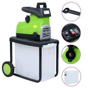 vidaXL Elektrisk kompostkvern med oppsamler 2800 W