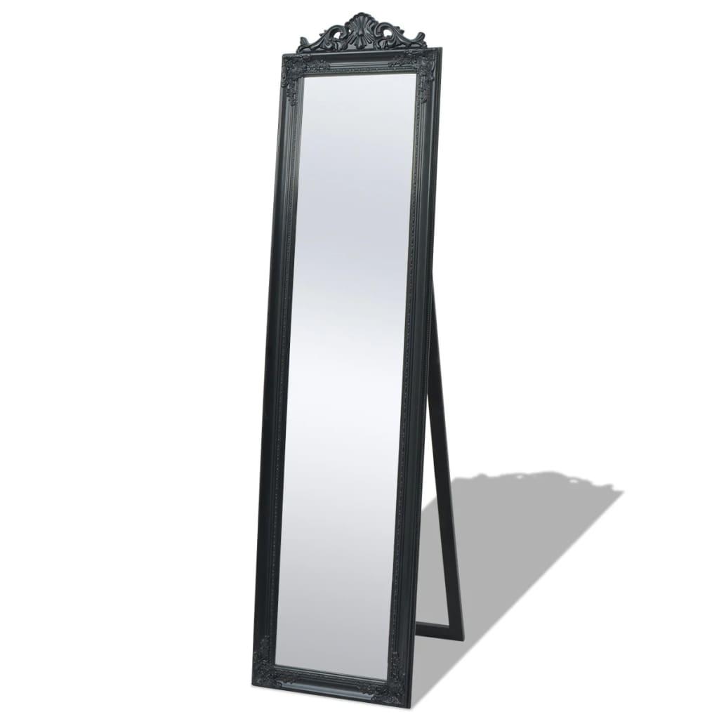 vidaXL Frittstående speil barokkstil 160x40 cm svart
