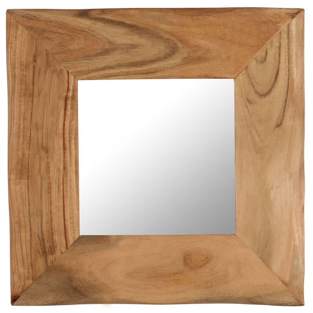 vidaXL Sminkespeil 50x50 cm heltre akasie