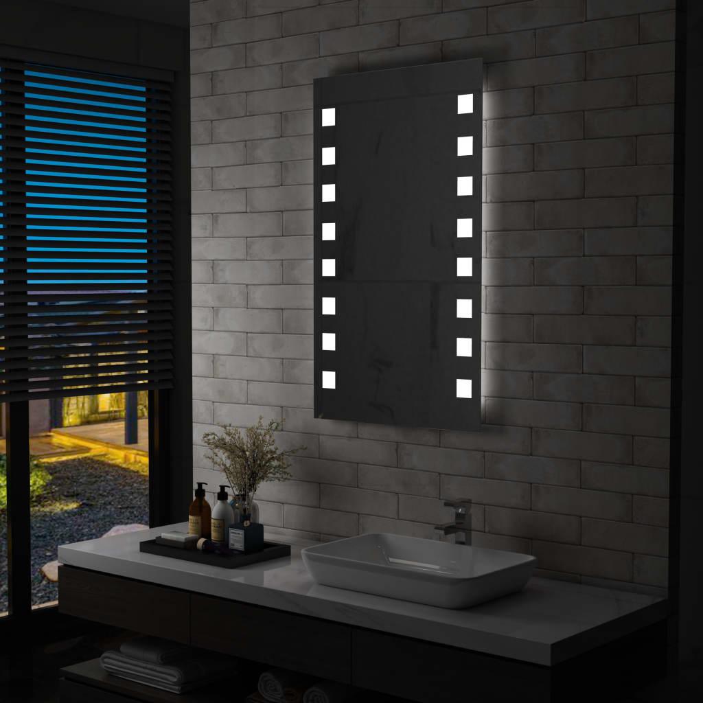 vidaXL LED-veggspeil til bad 60x100 cm