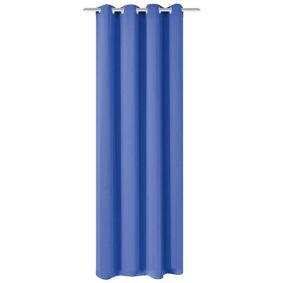 vidaXL Lystett gardin med metallmaljer 270x245 cm blå