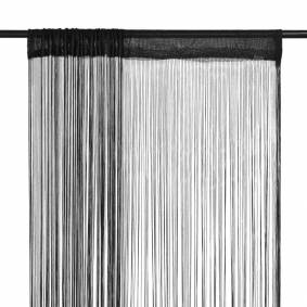 vidaXL Trådgardiner 2 stk 100x250 cm svart