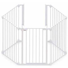 Noma 5-panels sikkerhetsgrind Modular metall hvit 94047