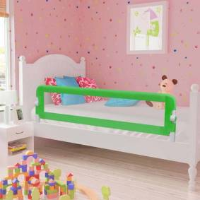vidaXL Sengehest småbarn grønn 120x42 cm polyester