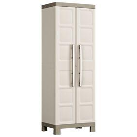 Keter Flerfunksjonelt oppbevaringsskap Excellence beige gråbrun 182 cm