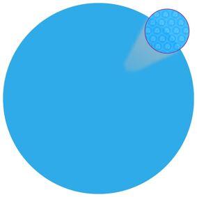 vidaXL Flytende solarduk PE 455 cm blå