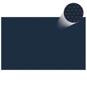vidaXL Flytende solarduk til basseng PE 800x500 cm svart og blå