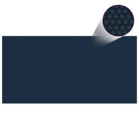 vidaXL Flytende solarduk til basseng PE 1000x500 cm svart og blå