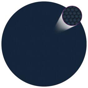 vidaXL Flytende solarduk til basseng PE 250 cm svart og blå