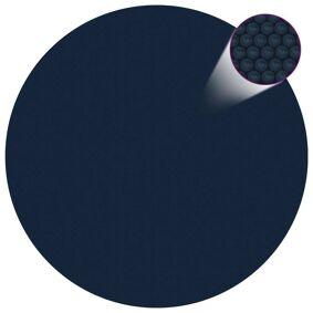 vidaXL Flytende solarduk til basseng PE 455 cm svart og blå