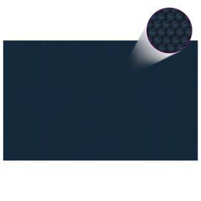 vidaXL Flytende solarduk til basseng PE 260x160 cm svart og blå