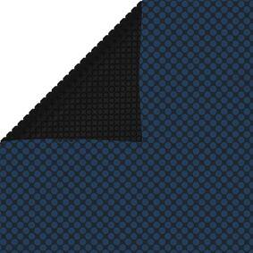 vidaXL Flytende solarduk til basseng PE 549x274 cm svart og blå