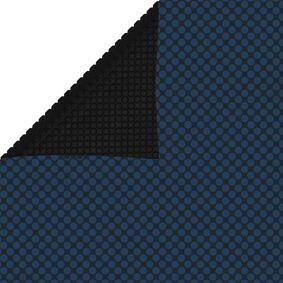 vidaXL Flytende solarduk til basseng PE 732x366 cm svart og blå