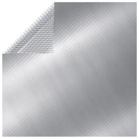 vidaXL Flytende rektangulær solarduk til basseng PE 6x4 m sølv