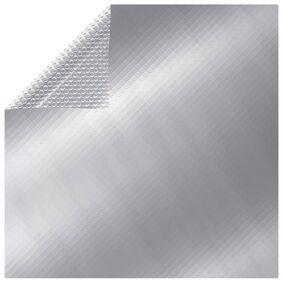 vidaXL Flytende rektangulær solarduk til basseng PE 10x5 m sølv