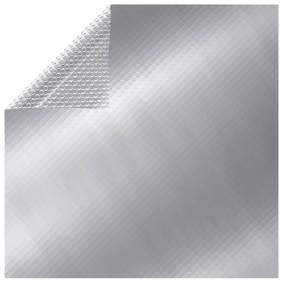 vidaXL Bassengtrekk rektangulært 1000x600 cm PE sølv
