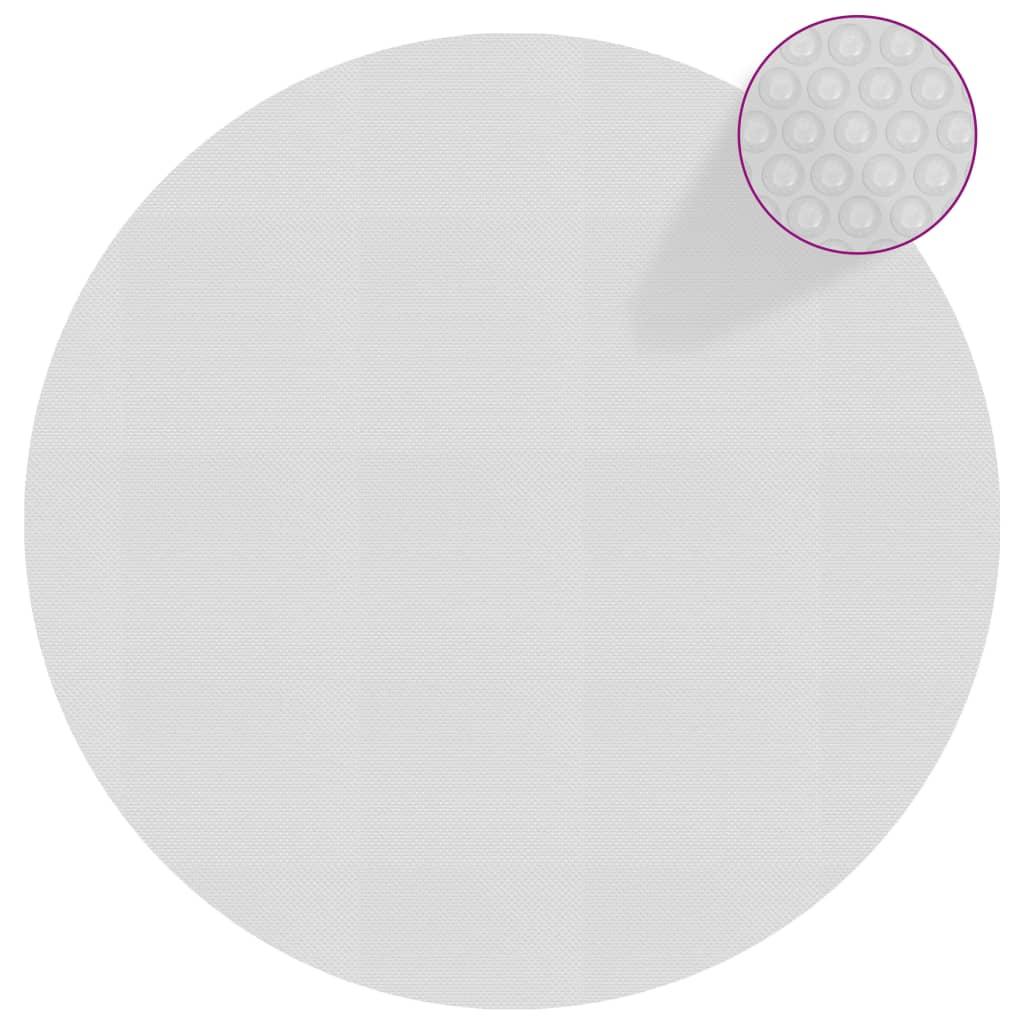vidaXL Flytende solarduk til basseng PE 527 cm grå