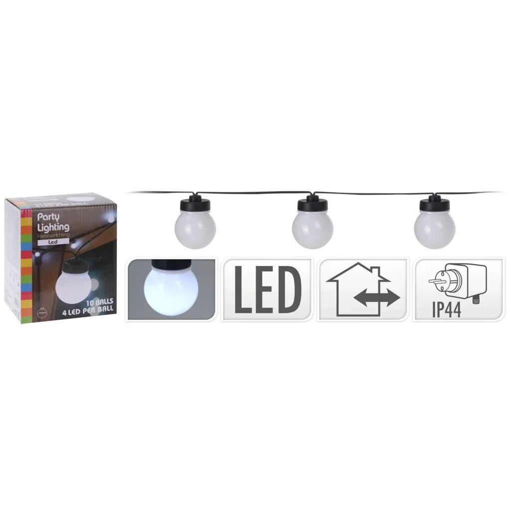 ProGarden LED-festbelysningssett med 10 lamper