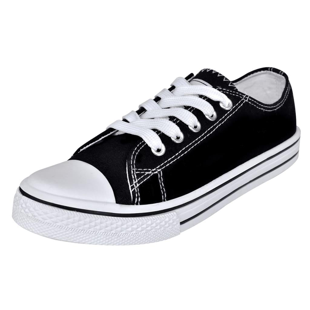 vidaXL Svarte Sneakers til Dame med Skolisser Størrelse 36