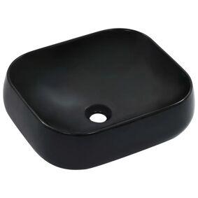 vidaXL Vask 44,5x39,5x14,5 cm keramikk svart