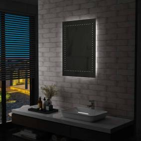 vidaXL LED-veggspeil til bad 60x80 cm