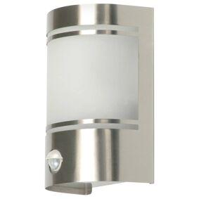 Smartwares Ranex utendørs vegglampe 20 W med bevegelsessensor, børstet stål